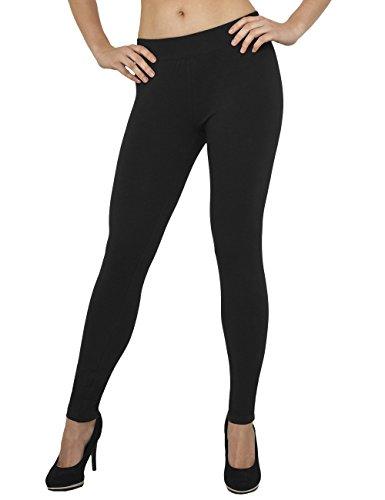Urban Classics TB605 Damen Ladies Jersey Leggings Schwarz (Black 7), W30/L32 (Herstellergröße: XL)