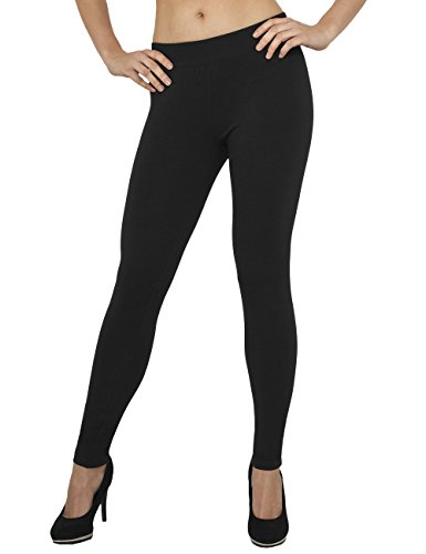 Urban Classics Ladies Jersey Leggings, Nero (Black 7), XS Donna