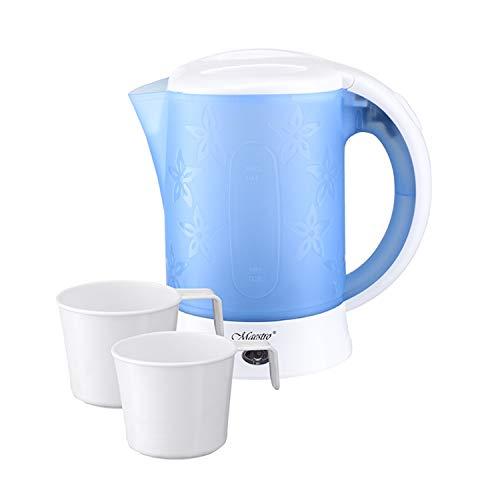 Maestro MR010 Elektrischer Reisewasserkocher mit zwei Tassen Minikessel Wasserkocher 0,6L 600W