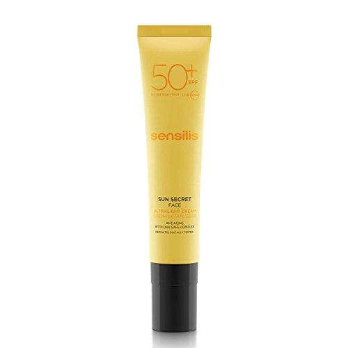 Sensilis Sun Secret - Crema Facial UltraLigera antiedad, Protector Solar con SPF 50 - 40 ml