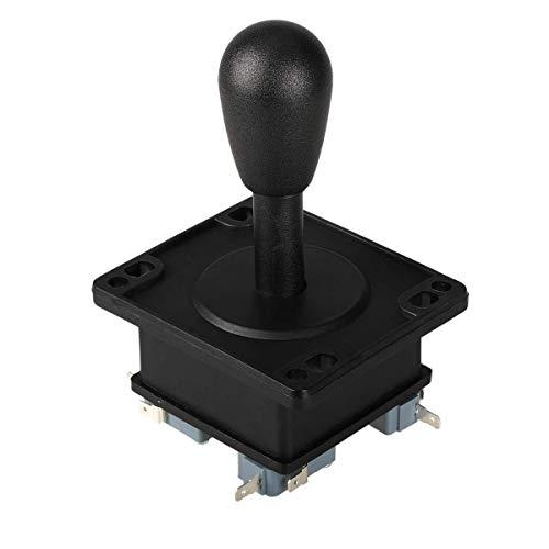 EG STARTS American Style Arcade Competition 2Pin Joystick negro conmutable desde 8 modos de funcionamiento manija elíptica negra precisión de 8 vías (4.8 mm) terminal