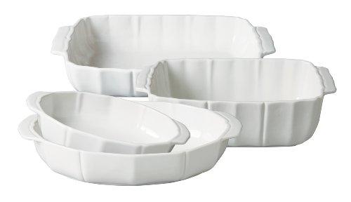 Gibson Pleasant Hill 4-Piece Fine China Bakeware Set