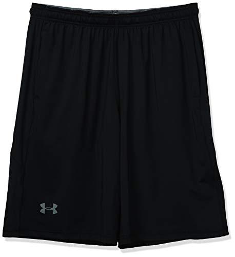 Under Armour mens Raid 10-inch Workout Gym Shorts , Black (001)/Graphite , Medium