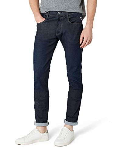 Replay Men's Anbass Stretch Jeans, Blue (Blue Denim 7), W31 L30