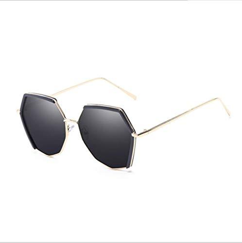MOOMDDY MOOMDDY Polarisierte Sonnenbrillen Sonnenbrillen Personalisierte Polygonale Gläser,Black