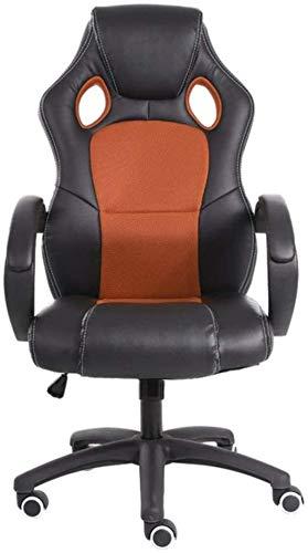 YONGYONGCHONG Silla de oficina ergonómica para videojuegos, con respaldo alto, supervisor de carreras, escritorio, oficina, silla de oficina ajustable (color: naranja, tamaño: 117 – 127 x 65 cm)