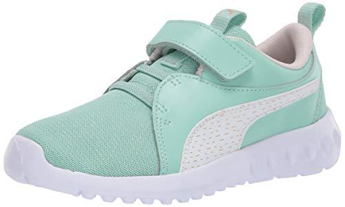 PUMA Girls' Carson 2 Velcro Sneaker, Mist Green-Rosewater, 7 M US Toddler