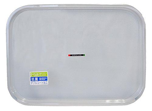 ノンスリップ カラークリア トレー 抗菌加工 透明 36×27cm