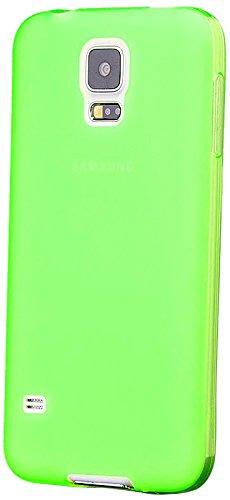 Samsung Galaxy S5 NEO & S5   iCues TPU Matt Case Neon Verde   protettore foglio trasparente della cassa della pelle del gel Sereno Sereno silicone protezione Coperchio Coperchio [Screen protector Compreso] Custodia Cover Case Tasca Borsa