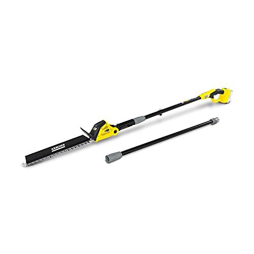 Kärcher 18 V Cortasetos pértiga PHG 18-45, longitud de corte: 45 cm, prolongación, cabezal de corte inclinable, rendimiento: máx. 250-500 m, compatible con la batería Kärcher 18 V, batería no incluida