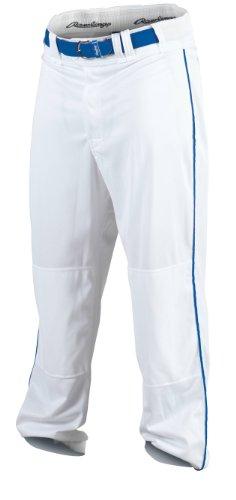Rawlings Youth Baseball Pant (White/Royal, X-Large)