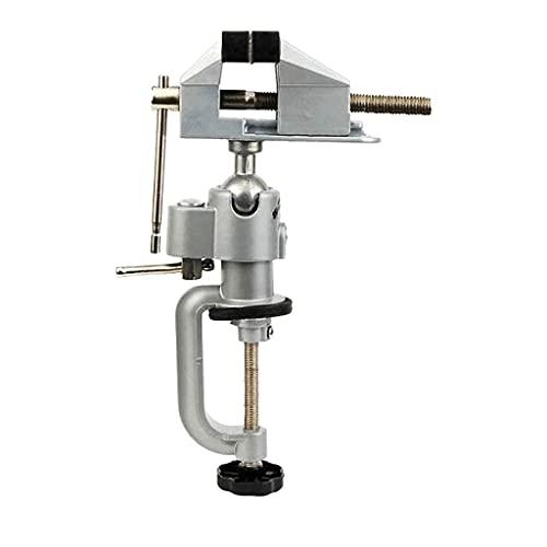 WYZQ WYZQ Uhrenreparaturwerkzeugsatz,2-in-1 360-Grad-Drehtischschraubstock Multifunktionaler Aluminiumlegierungs-Drehschraubstock-Klemme Bild