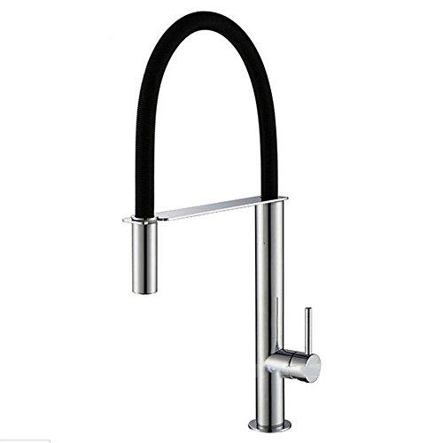 FGDJTYYJ Wasserhahn Badezimmer-Becken Küchenspüle Tap Kupfer 360-Grad-Rotation Heißer und kalter Mischhahn