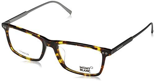Montblanc Mont Blanc Brillengestelle MB0615-F 055-55-17-145 Monturas de gafas, Marrón (Braun), 55 para Hombre