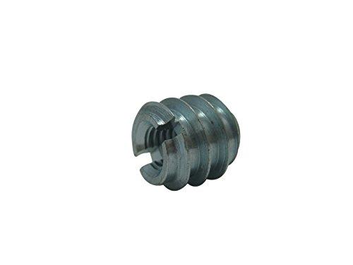 40 x Einschraubmuttern Einschraubmuffen Muttern M6 Stahl verzinkt Länge 12mm SAMWERK®