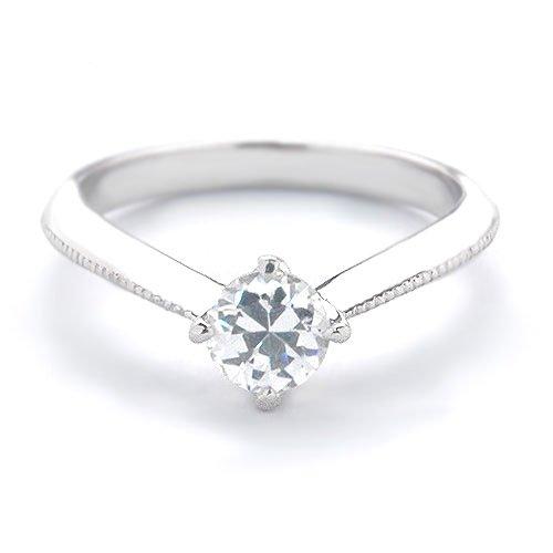 (ダイヤモンドWatanabe) セミオーダー 婚約指輪 エンゲージリング ダイヤモンド 0.278ct Dカラー VS1 EXCELLENT H&C 3EX プラチナ Pt900 鑑定書付(2社鑑定) ソリティア 立て爪 日本国内加工 サイズ 14号