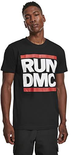 Mister Tee Run Dmc Logo, Maglietta con a Maniche Corte Uomo, Nero (Black), XXL