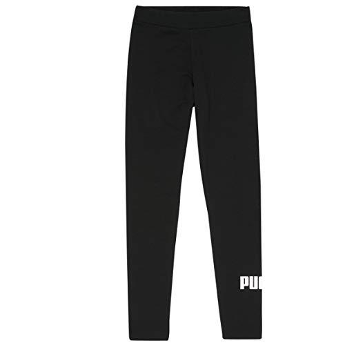 PUMA ESS Logo Leggings G Mallas Deporte, Niñas, Black, 140