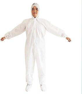 防護服 使い捨て 10セット フード付 つなぎ フリーサイズ 男女兼用 不織布 病院 介護施設 清掃 大きめ フリーサイズ
