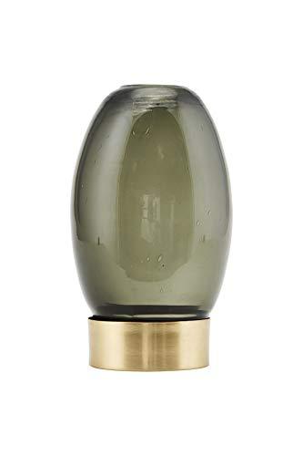 House Doctor Kerzenständer, Mushroom, Grau, Dm: 9 cm, h.:14 cm, Baumwolle
