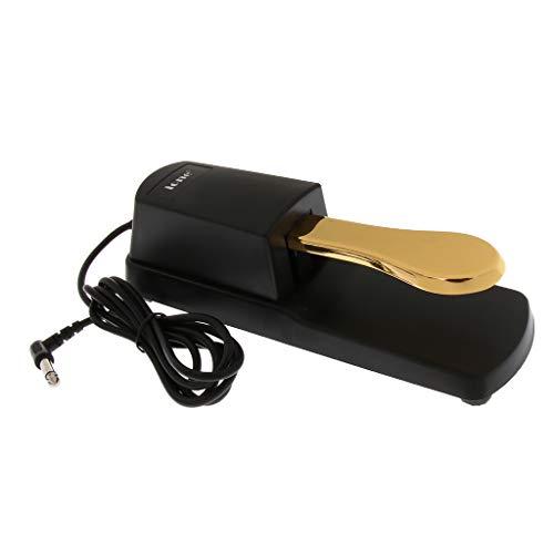 Hellery Universal Damper Sustain Pedal Interruptor de Pie Piezas de Teclado de Piano Electrónico - Dorado, 23x7x6cm