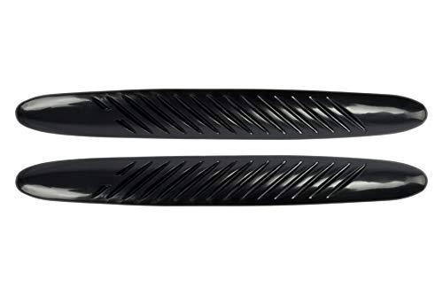 BC Corona EXT99036 2 Protectores paragolpes, Negro/Gris, 44 x 5,5 cm, Set de 2