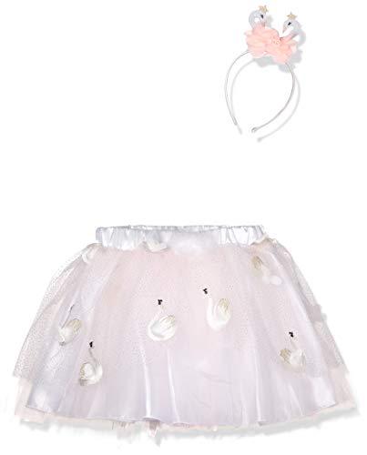amscan- Pink Tutu Costume with Glitter Swan Headband-Age Child S/M-3-8 Years-1 PC Disfraz de tutú Rosa con Diadema de Cisne con Purpurina, Talla S/M de 3 a 8 años, 1 Unidad. (9904242)