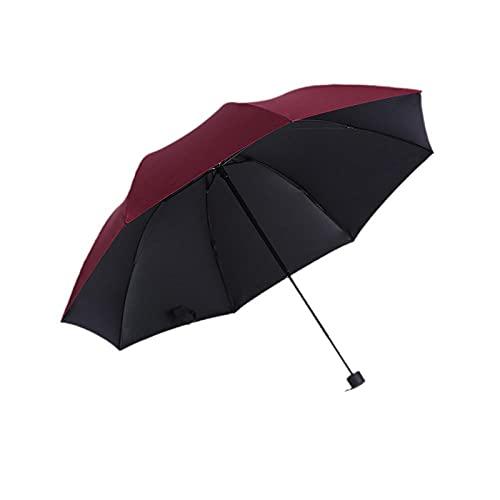 Regenschirm 3 Falten Sie feste Farbgeschäfts-Mann-Regenschirm-Rotwein_33 cm