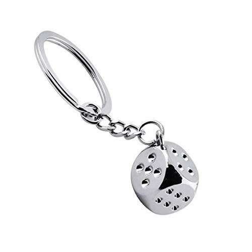 Qimao Lucky Aquare Dice Pendant Keychain Metal Home Car Gamble Keyrings Key Holder Decor Accessories