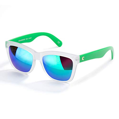 Fashion Sunglasses for Women,100% UVA/UVB Protection Mirrored Lens,Square Design,Fit for Outdoor,Ski,Vacation(Emerald, 55)