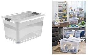 OKT Aufbewahrungsbox Kristall-Box, mit Rollen, 52 Liter