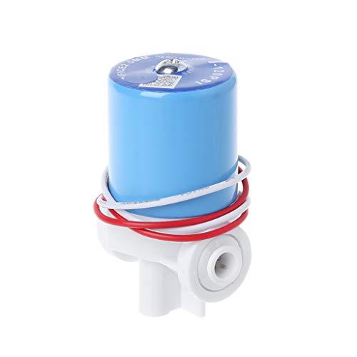 Fivekim 1/4 'Conexión rápida del agua de la electroválvula de entrada de agua doméstica piezas de máquina de agua pura conexión rápida de la electroválvula de entrada de agua azul y blanco