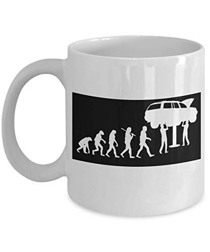 Taza de café de regalo divertida I Am Mechanic, evolución de una taza de café de porcelana blanca de Mechanic para novia, padre, novio, esposa, marido, mecha