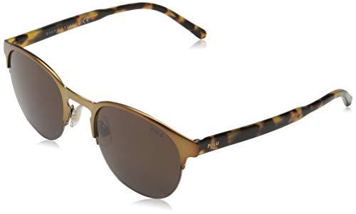 Polo Ralph Lauren 0Ph3099 931773 51 zonnebril, goud (semibrze/bruin)