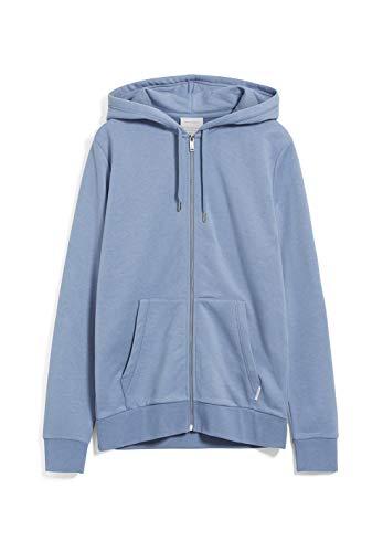 ARMEDANGELS JOAA - Herren Sweatjacke aus Bio-Baumwoll Mix XL Cold Blue Sweat Jacke Regular fit