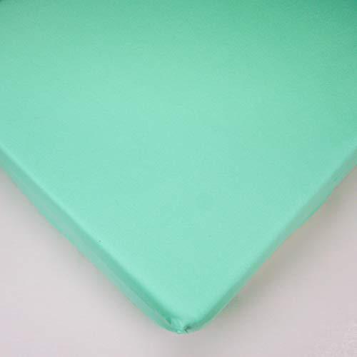 Drap-Housse en Jersey pour Lit Bébé 160x70cm - Turquoise