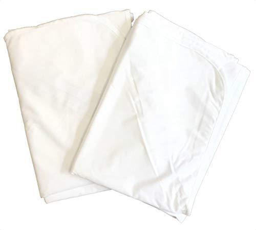tocoとふんわり生活 (全11サイズ) 防水シーツ フラットタイプ おねしょシーツ 2枚セット(セミダブル 120*205cm)