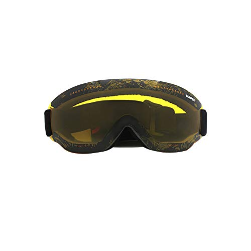 Frameless Single Layer Ski Goggles,Windproof Scratch Resistant Combat Goggles Adjustable UV Protective Safety Outdoor Glasses for Cycling, Climbing, etc