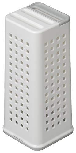 イノマタ化学(Inomata-k)包丁立てホワイト約幅9.2×奥行9.2×高さ21.5cmナイフスタンド0400