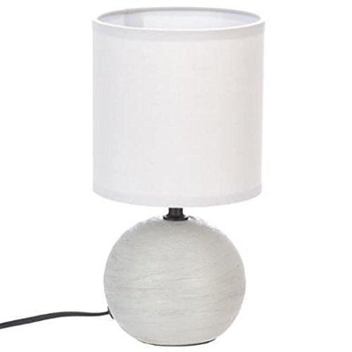 Atmosphera Créateur d'intérieur - Lampe à Poser Céramique Boule 25cm Gris Strié