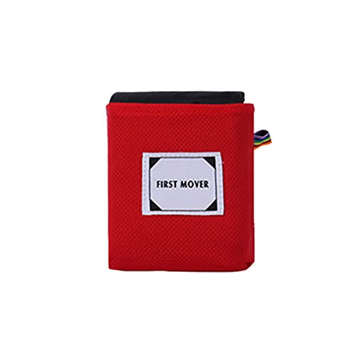 Outdoor-feuchtigkeitsbeständige Matte Picknick-Matte Taschen-Picknick-Tuch Praktische wasserdichte Ultraleichte Rasen-Falt-Strandmatte-red||110 * 145cm