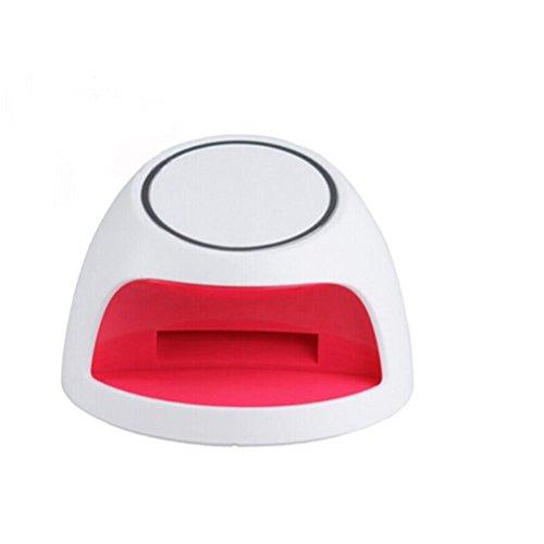 Foxnovo Mini Lampe LED Portable Sèche à Ongles Gel UV en Forme d'Arc Rose (blanc)