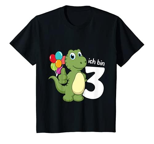 Kinder 3. Geburtstag Junge Dino T-Rex Ich bin 3 Jahre T-Shirt