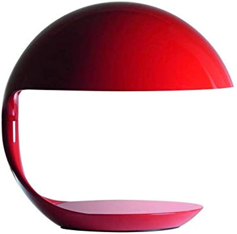 Martinelli luce cobra rosso,lamapda da tavolo orientabile,in resina,alluminio e acciaio 629/RO