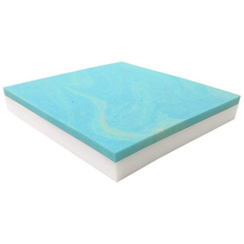 FOAMMA 1' x 22' x 28' Upholstery Foam High Density Foam (Chair Cushion Square Foam for Dinning Chairs, Wheelchair Seat Cushion Replacement) (Gel Memory Foam 22' x 3' x 28')
