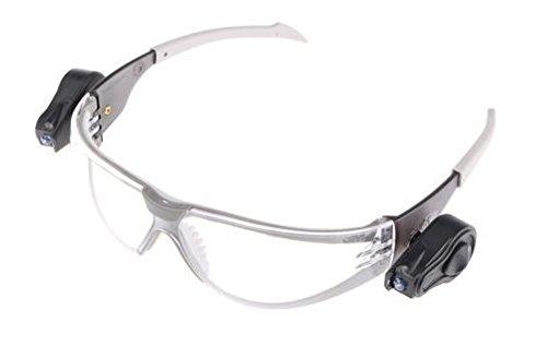 3M LED Light Gafas de seguridad PC ocular incoloro recubrimiento AR-AE con luces LED (1 gafa/bolsa)