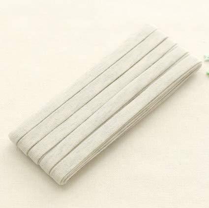 3yds Bias Tape Dubbele Knit Katoen Trim 10mm Effen masker bias Kleur Dubbele vouw Havermout