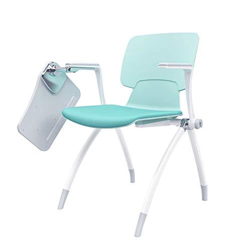Lpinvin Trainingsstuhl Trainingsstuhl mit Schreibvorstand, Faltbarer Trainingstisch und -Stuhl, einem Tisch und Hocker, Konferenzraumstuhl, ordentlicher Konferenzstuhl Tragbarer Trainingsstuhl