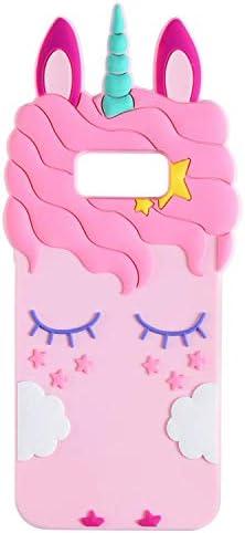 Joyleop Pink Unicorn Case for Samsung Galaxy S8 Plus Cute 3D Cartoon Animal Cover Kids Girls product image