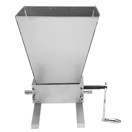 Getreidemühle, Kohlenstoffstahl-Korn-Mühle, Malz-Mühle Homebrew-Korn-Zerkleinerungsmaschine mit justierbarer Stahlrollen-Bier-Braukorn-Zerkleinerungsmaschine
